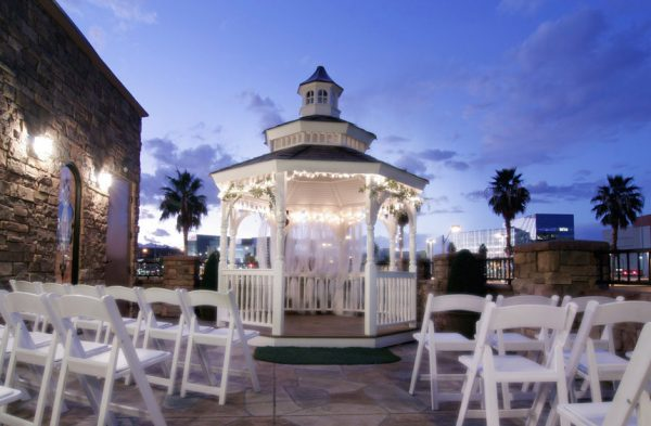 Outdoor vegas weddings planner for Terrace gazebo