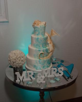 planning a wedding cake