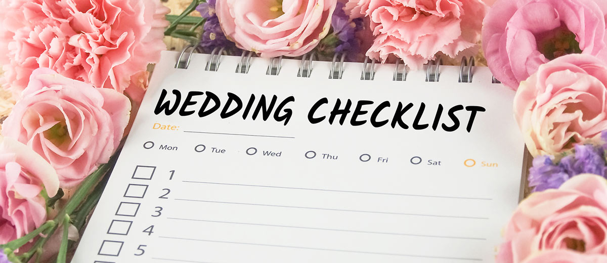 A checklist before the wedding checklist for What to know about planning a wedding